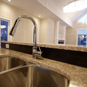 34 Auberry, Moncton NB: Kitchen island faucet and sink